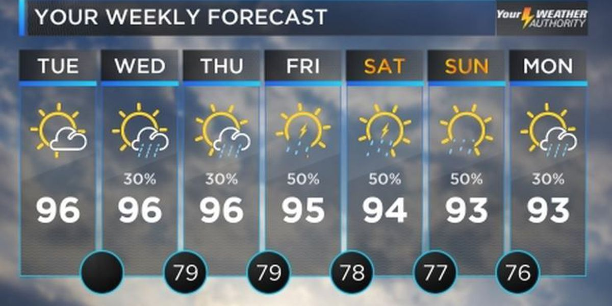 Bruce: Another hot day, some late week rain relief