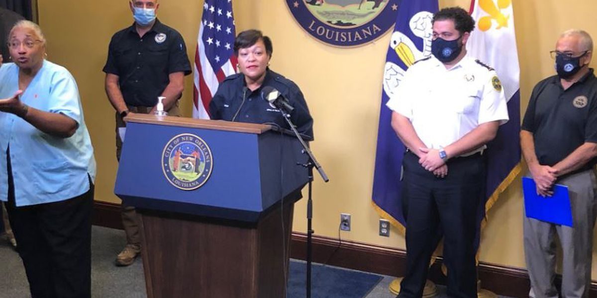 WATCH LIVE: Mayor Cantrell and city officials discuss Hurricane Zeta recovery
