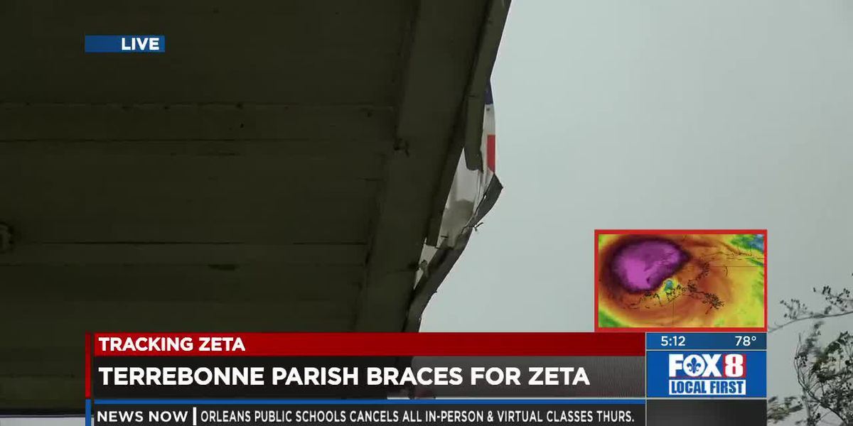Terrebonne Parish feeling the brunt of Zeta