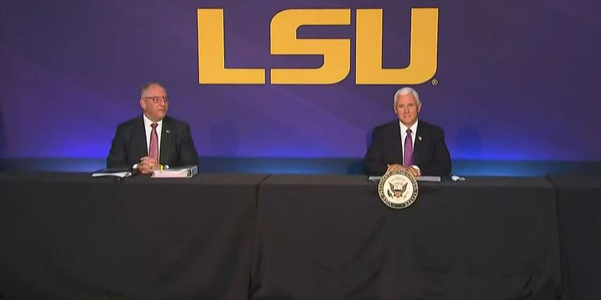 Vice President Mike Pence visits Baton Rouge to meet with state officials