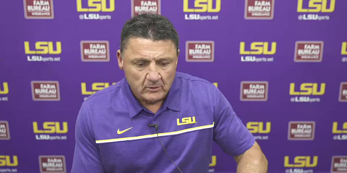 Coach Orgeron reacts to LSU's 4th loss of the season