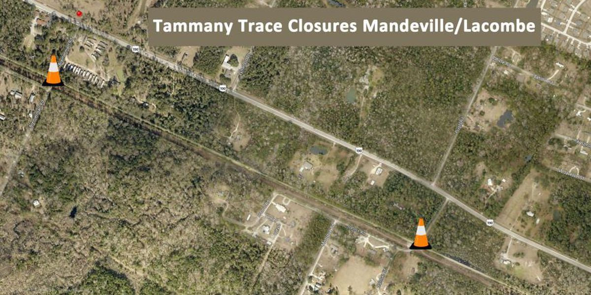 Parts of the Tammany Trace will close for repairs later this week