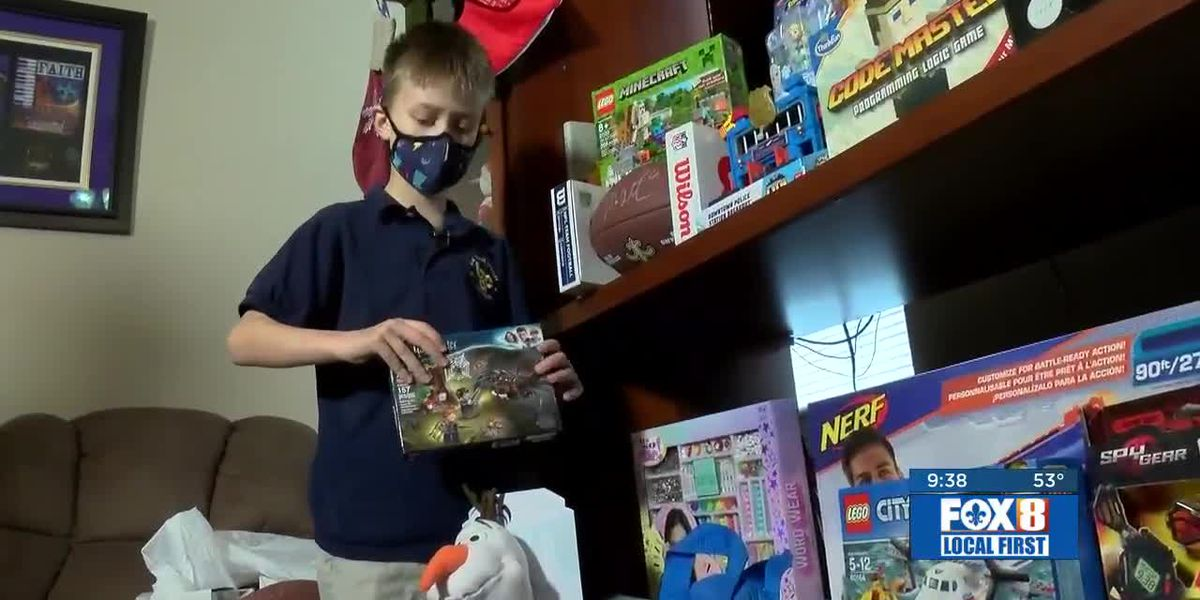 9-year-old collecting toys for Children's Hospital patients