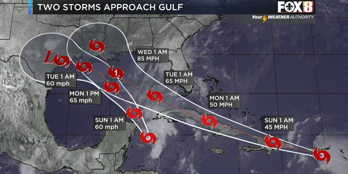 The latest on Tropical Storms Laura and Marco