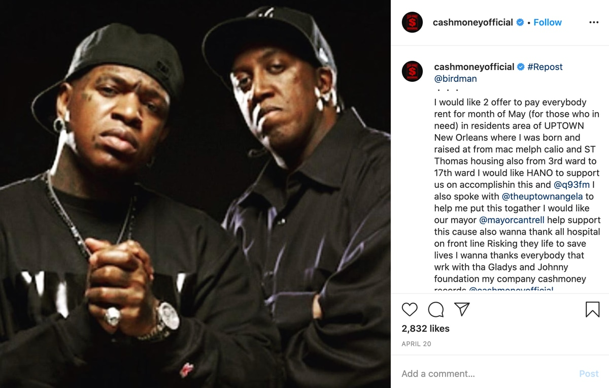 Cash Money Records founders pay rent for hundreds of Uptown tenants