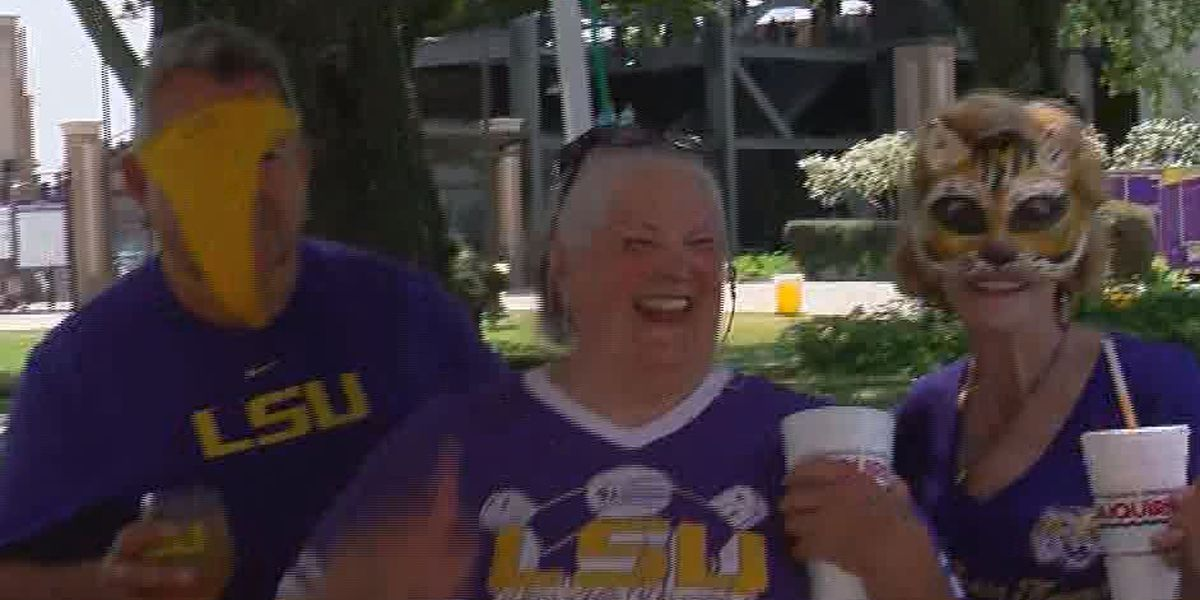 LSU fans tailgate ahead of regional game against Stony Brook