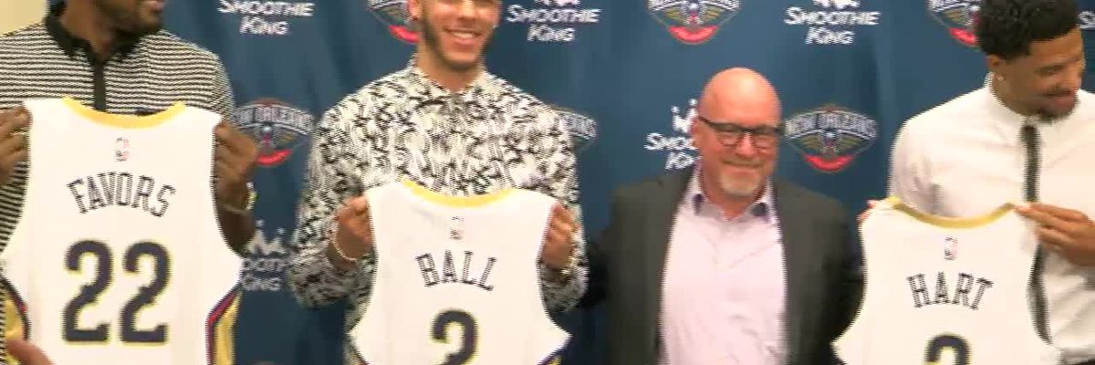 New Pelicans show off their jerseys and numbers