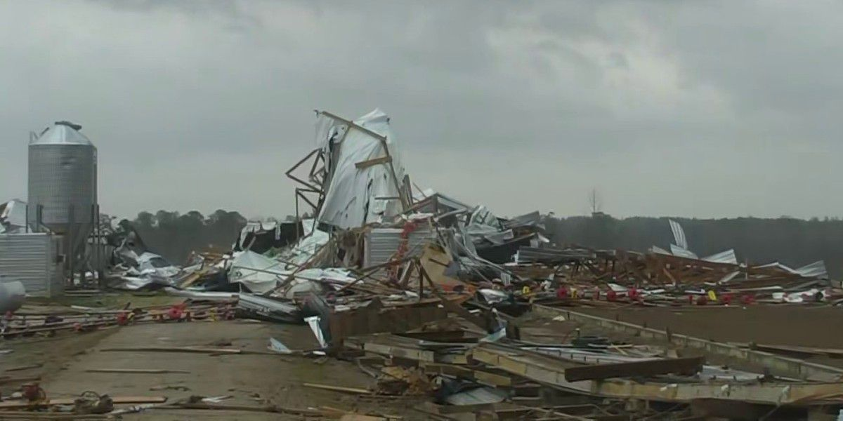 Severe weather rolls through Mississippi on St. Patrick's Day