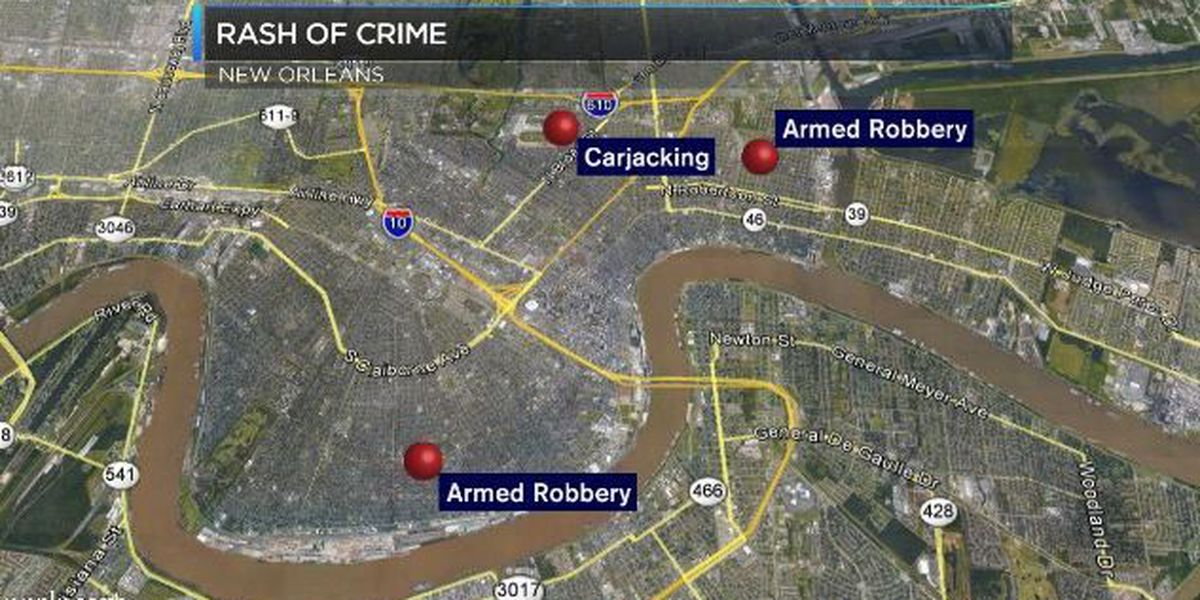 People with guns pull off rash of crime in N.O.