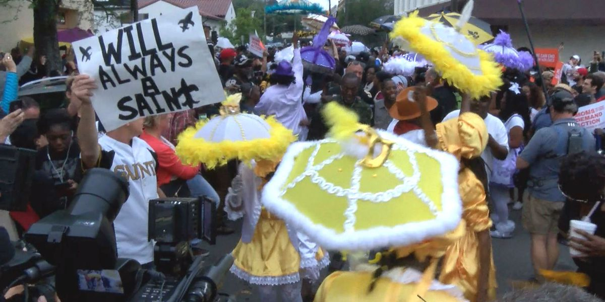 Second line celebrates life of former Saint Will Smith