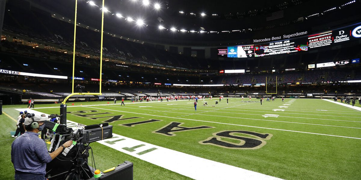 Virus pandemic slows renovations to Superdome