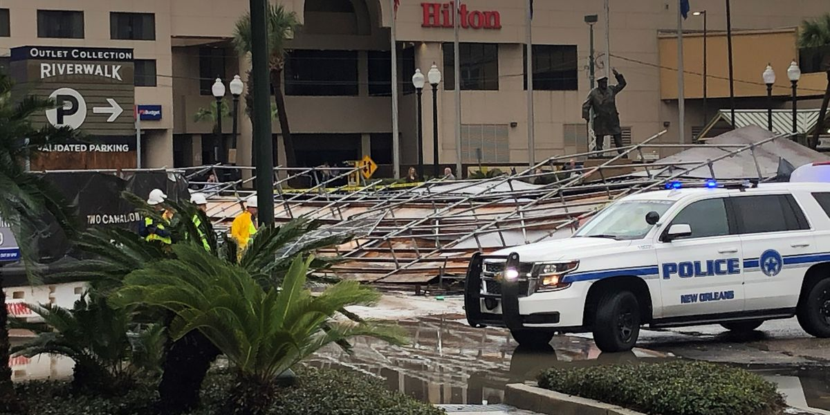 One person injured in scaffolding collapse in Downtown New Orleans