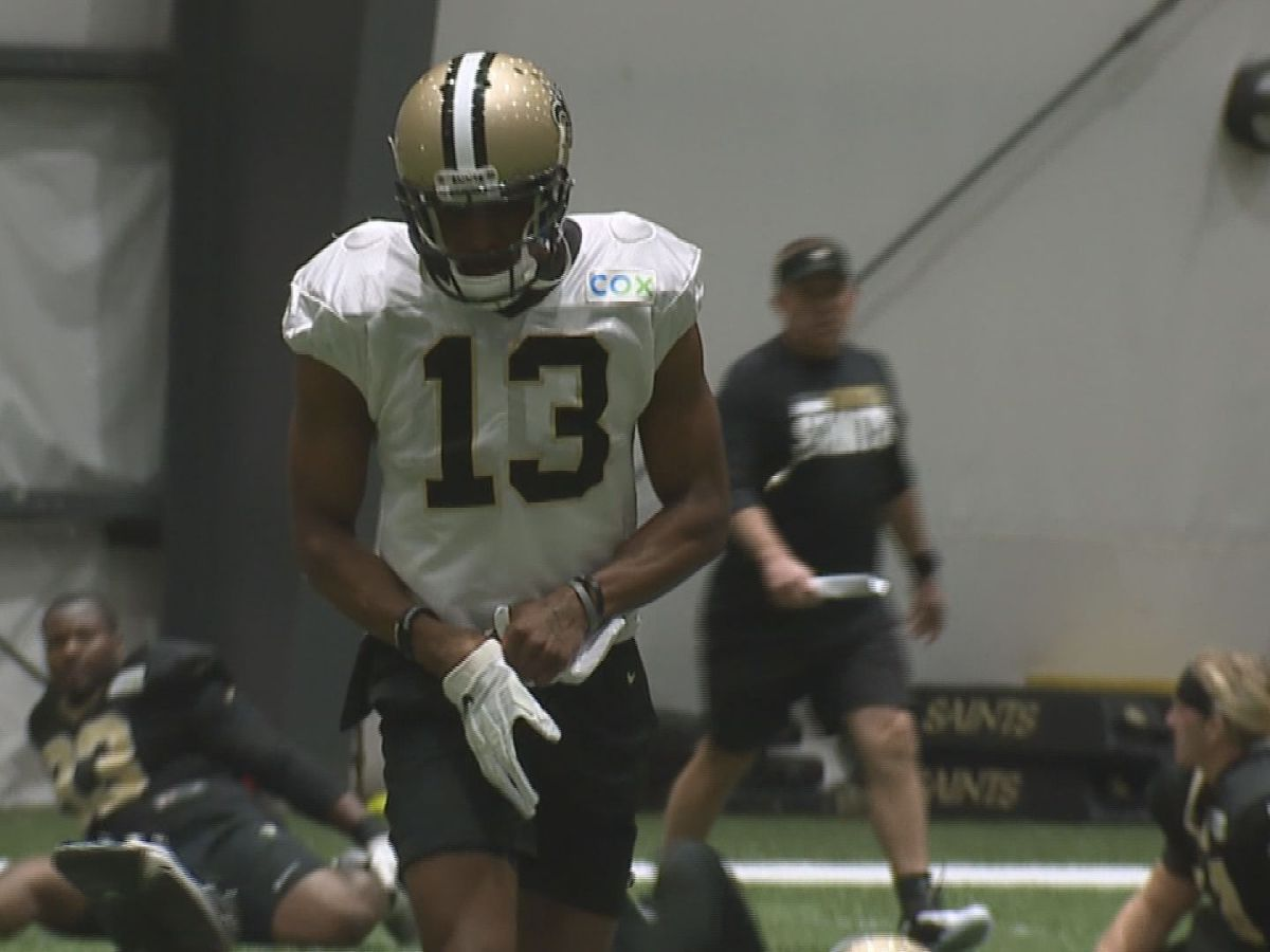 Saints wide receiver Michael Thomas limited in practice Thursday