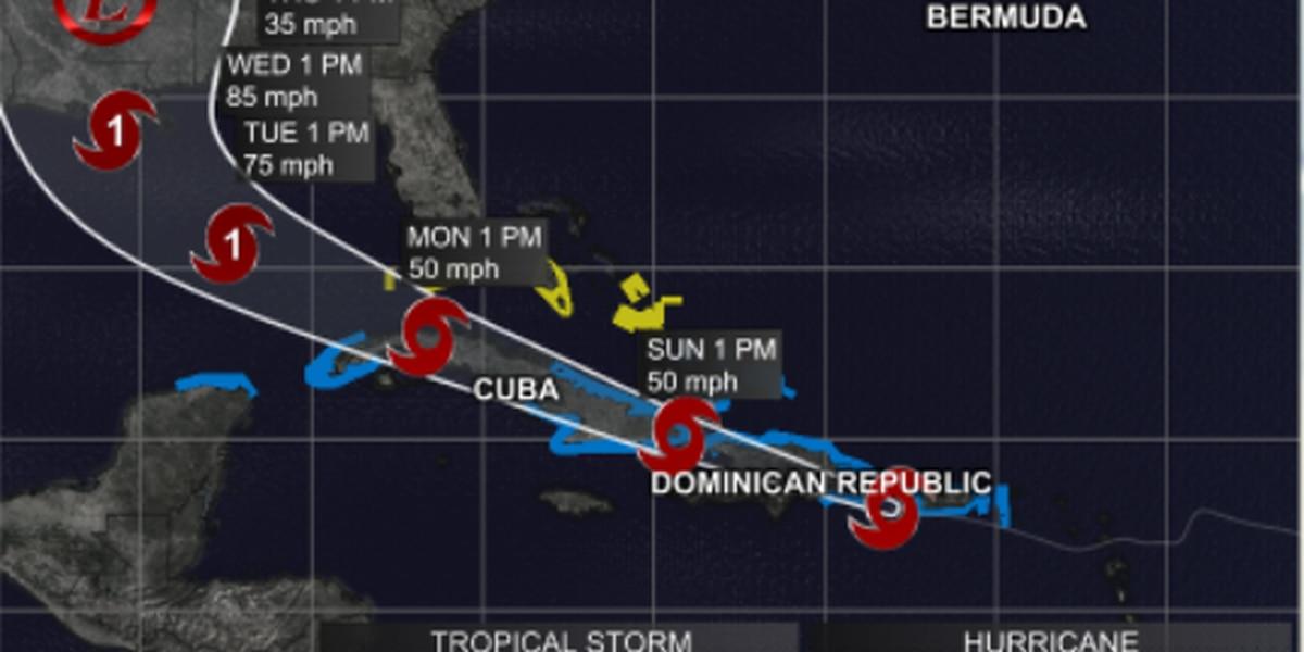 DAVID BERNARD: Hurricane and storm surge watch in effect now