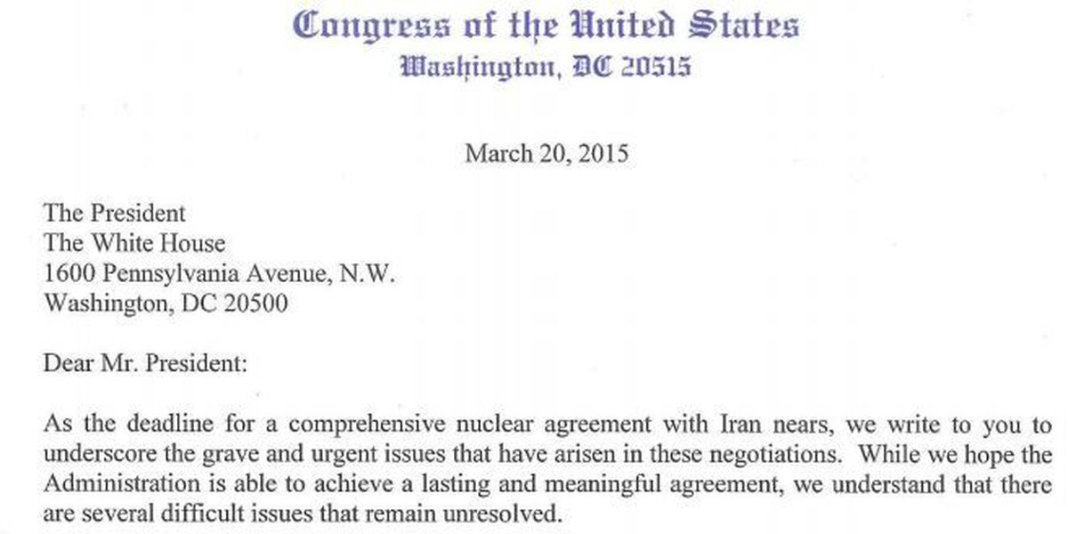 La. Republicans send President Obama a warning letter about talks with Iran