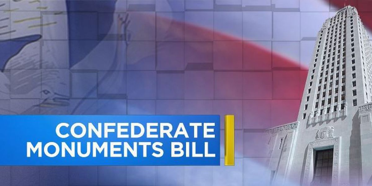 State representative works on confederate monument removal rules bill