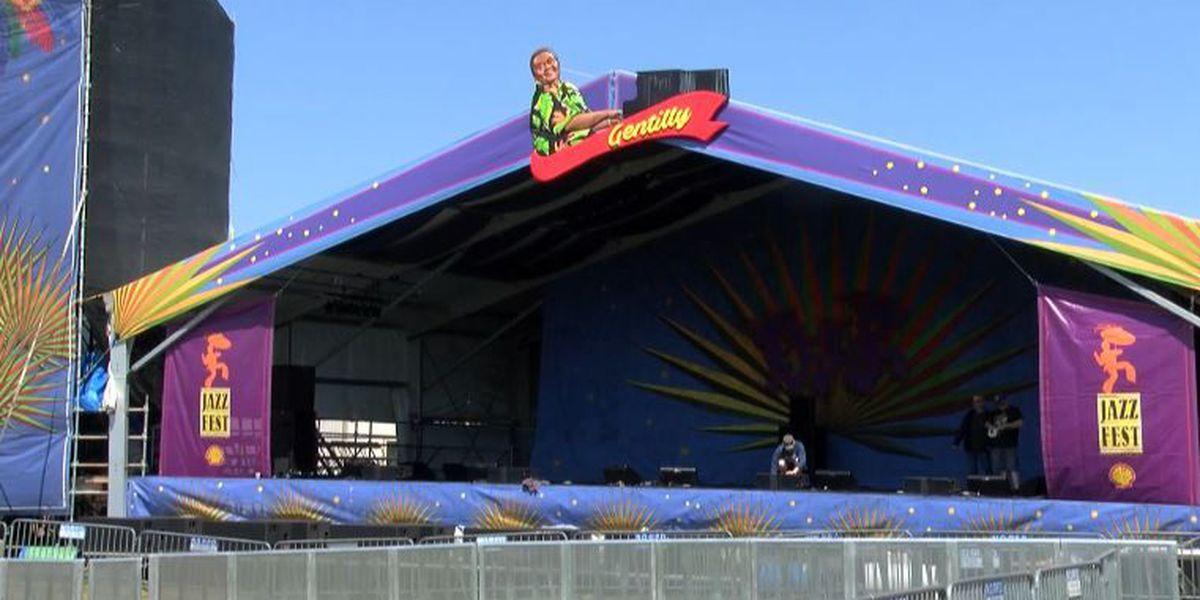 Vendors, organizers finish setting up for Jazz Fest