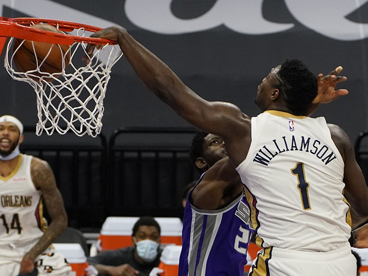 Williamson's 31 points power the Pelicans over the Kings, 128-123, snapping 5-game losing streak