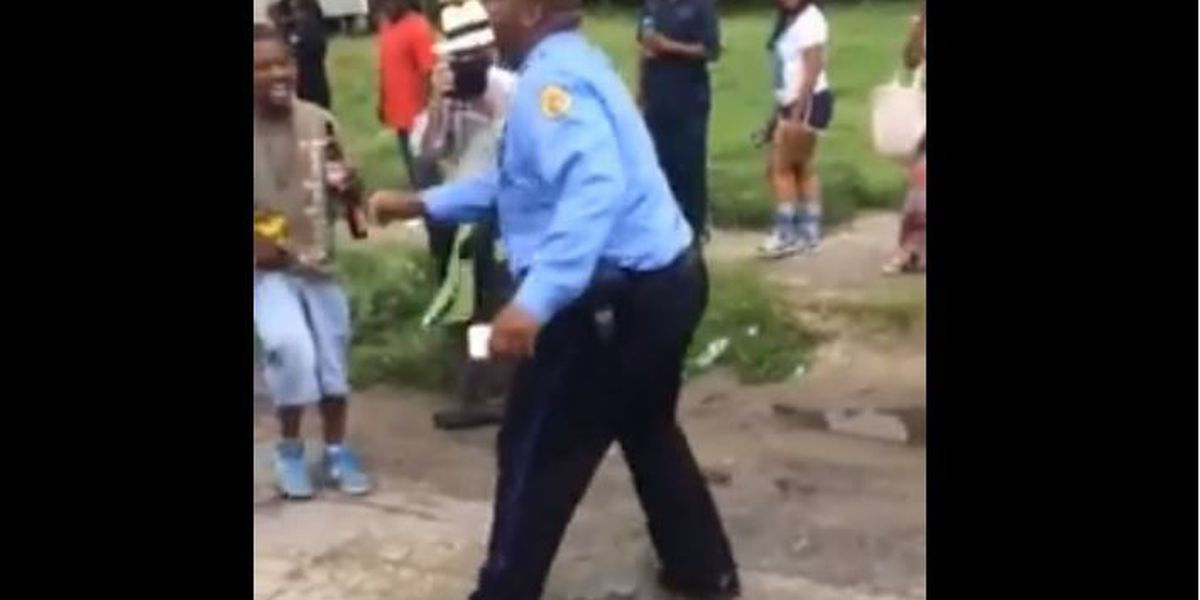 NOPD officer steals the show at second line parade