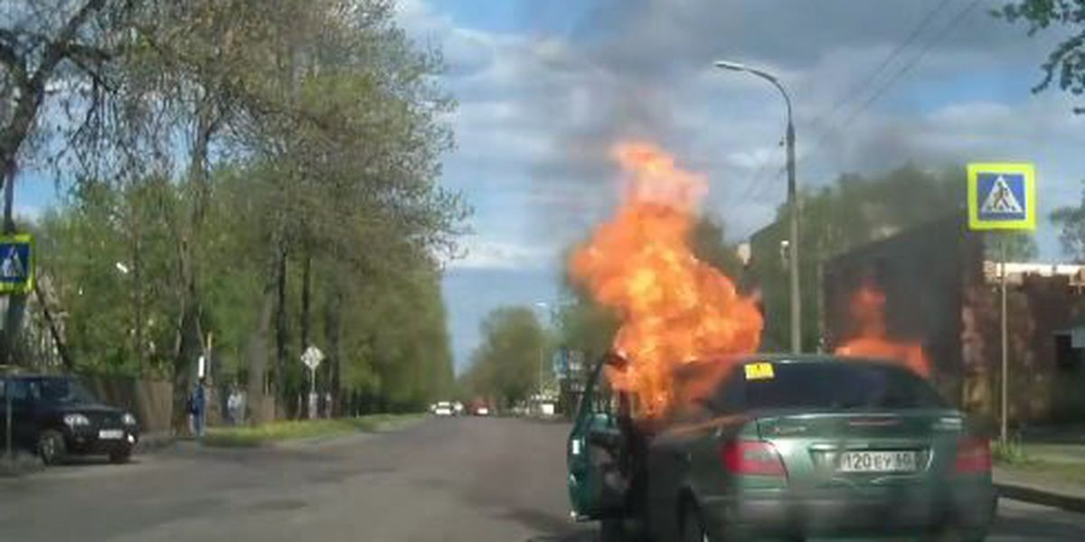 Right This Minute: Woman's drive turns into fiery nightmare