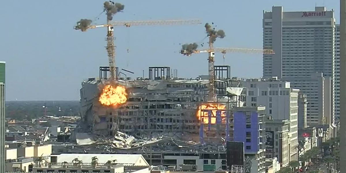 Cranes imploded at Hard Rock collapse site