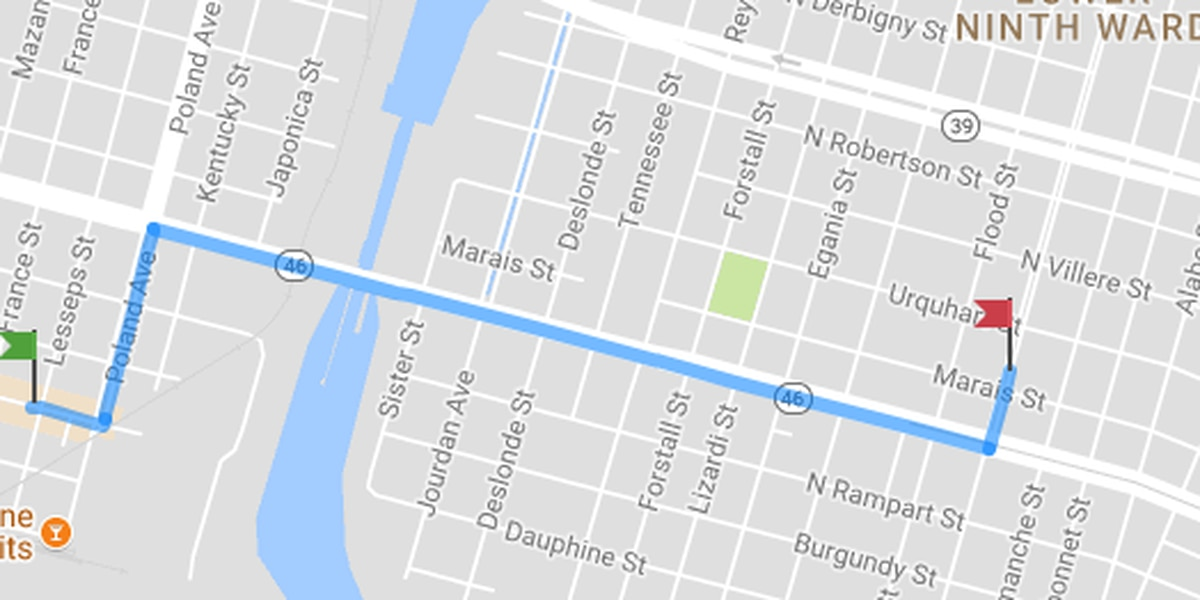 View the route for the Fats Domino Second Line