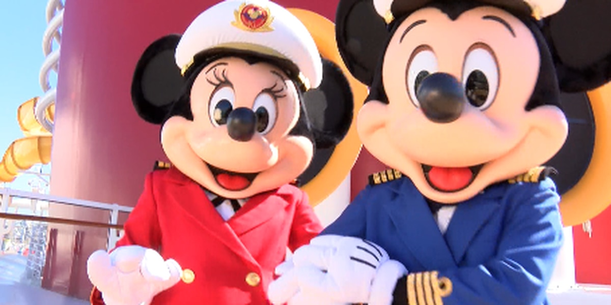 Disney Cruise Ship sets sail from New Orleans for first time