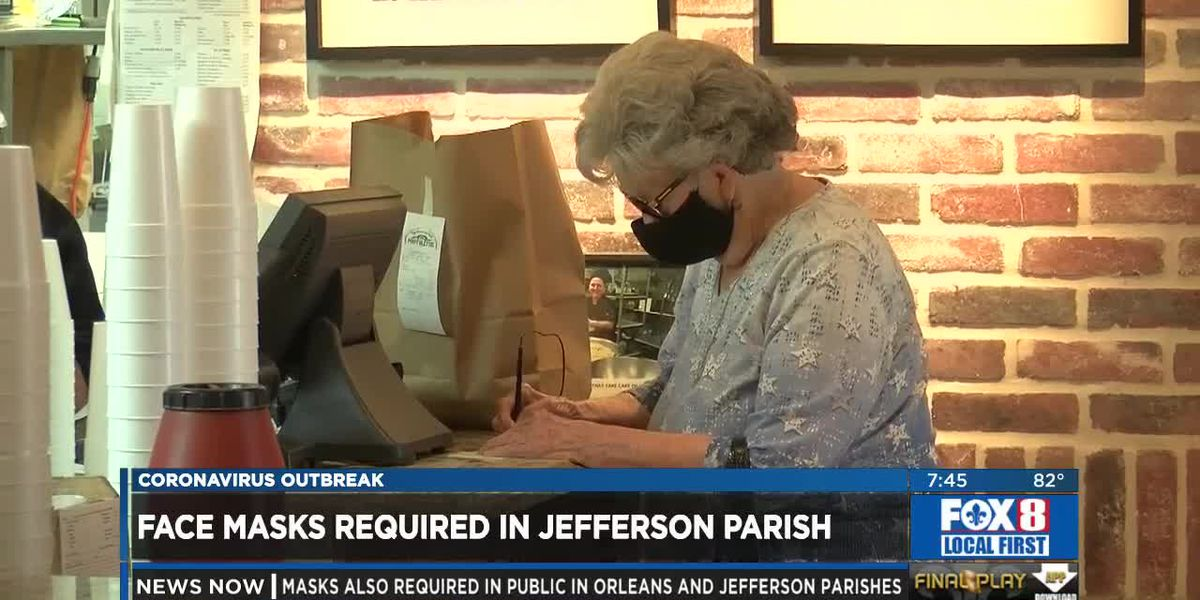 Jefferson Parish enforces wearing masks