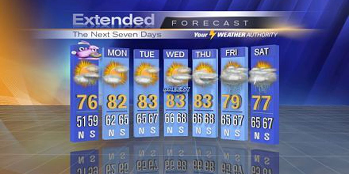 Nicondra: Nice Saturday, more rain for Sunday
