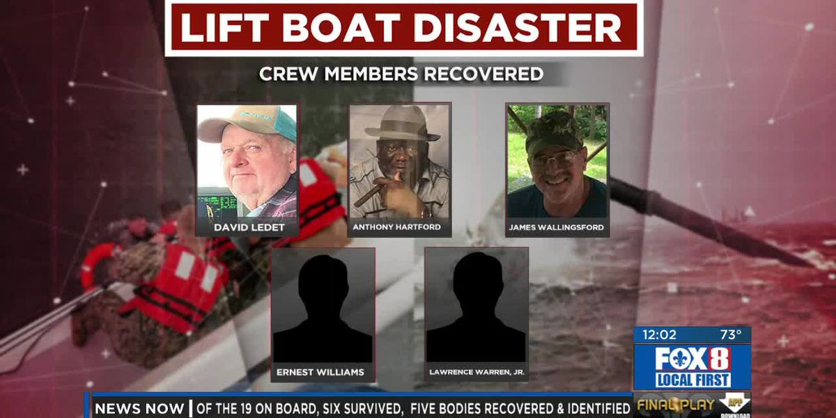 Lift boat disaster - Tuesday noon update