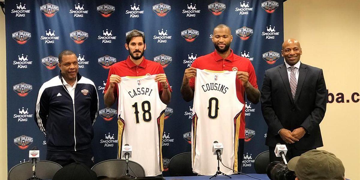 Rockets blast Pelicans 129-99; Cousins scores 27 in debut