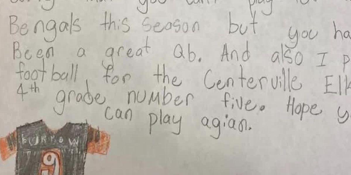 Get Well Soon: Young Bengals fan offers words of encouragement to Joe Burrow
