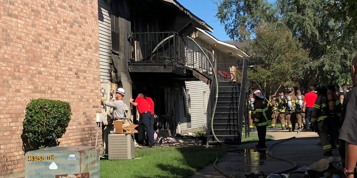 Child playing with lighter badly damages four apartment units