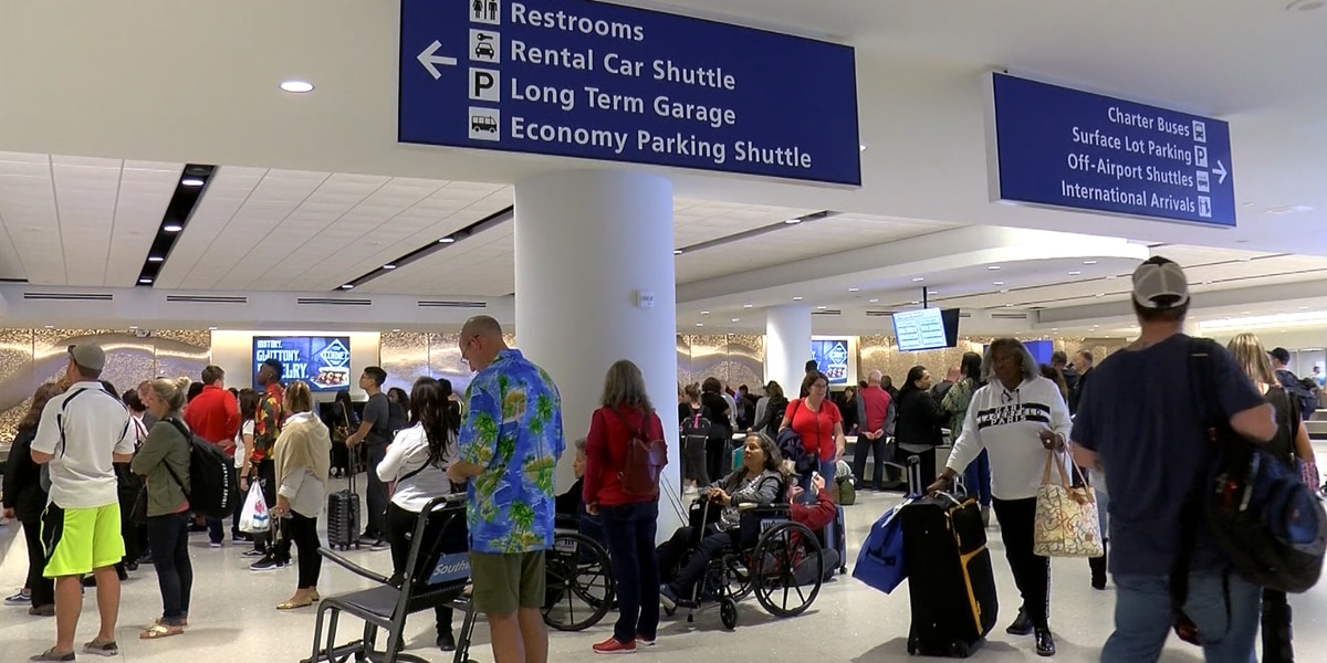 New Armstrong Int. Airport terminal put to the test on the busiest travel day of the year