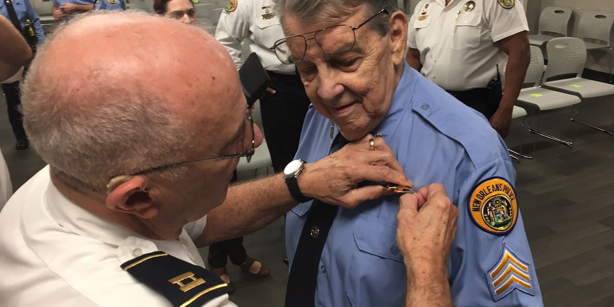 Longtime NOPD officer surprised with promotion