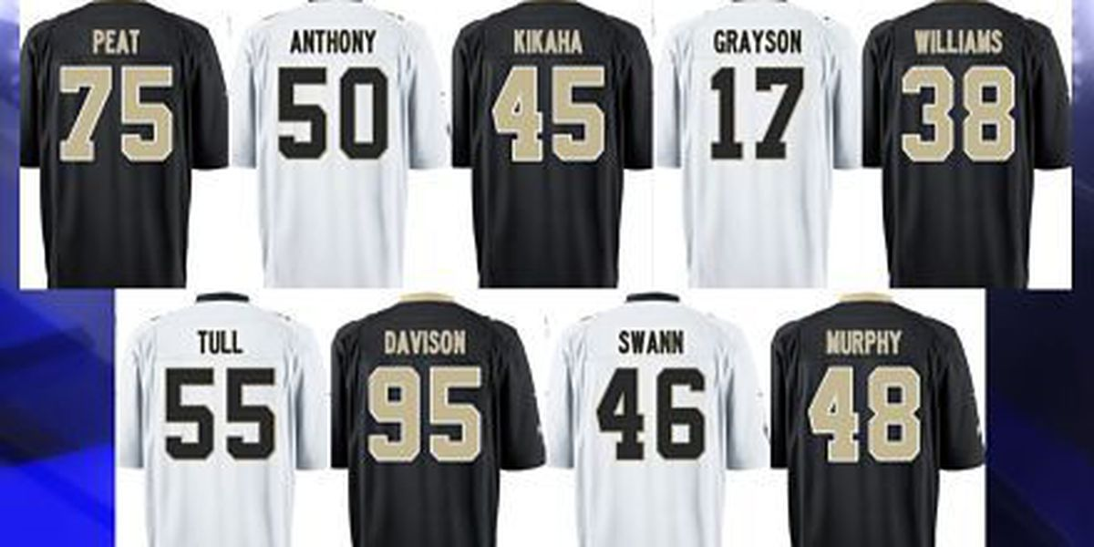 Saints rookie draft pick jersey numbers announced