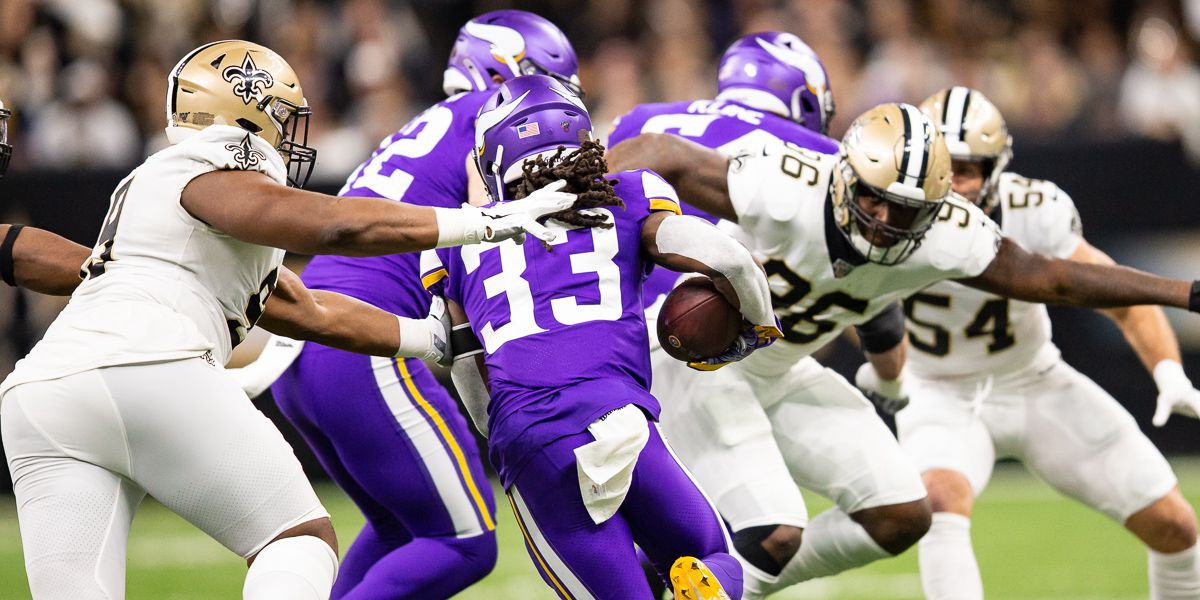 Vikings running wild on the Saints in the first half