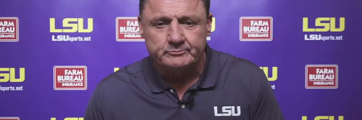 Orgeron talks opting out, defensive improvements, offensive struggles & more