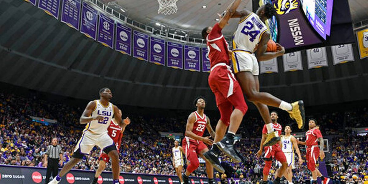 Jones' late basket lifts Arkansas over No. 19 LSU, 90-89