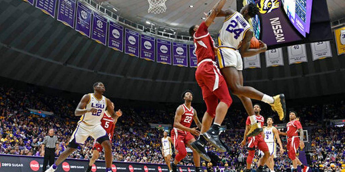 Jones' late basket lifts Arkansas over No. 19 LSU, 90-89