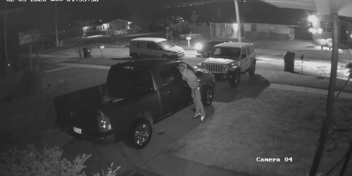 Surveillance video shows what appears to be a child assist in vehicle burglaries