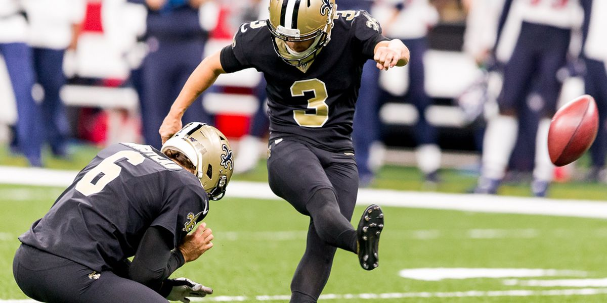 Report: Saints restructure contract of kicker Wil Lutz