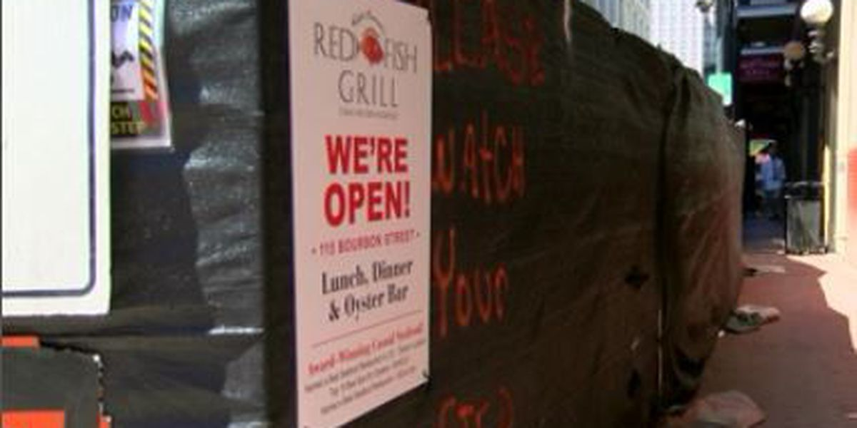 Bourbon Street closure affecting businesses