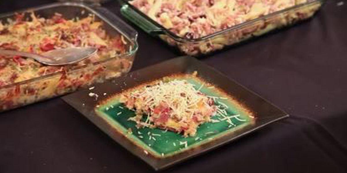 Chef John Folse: Baked muffuletta pasta
