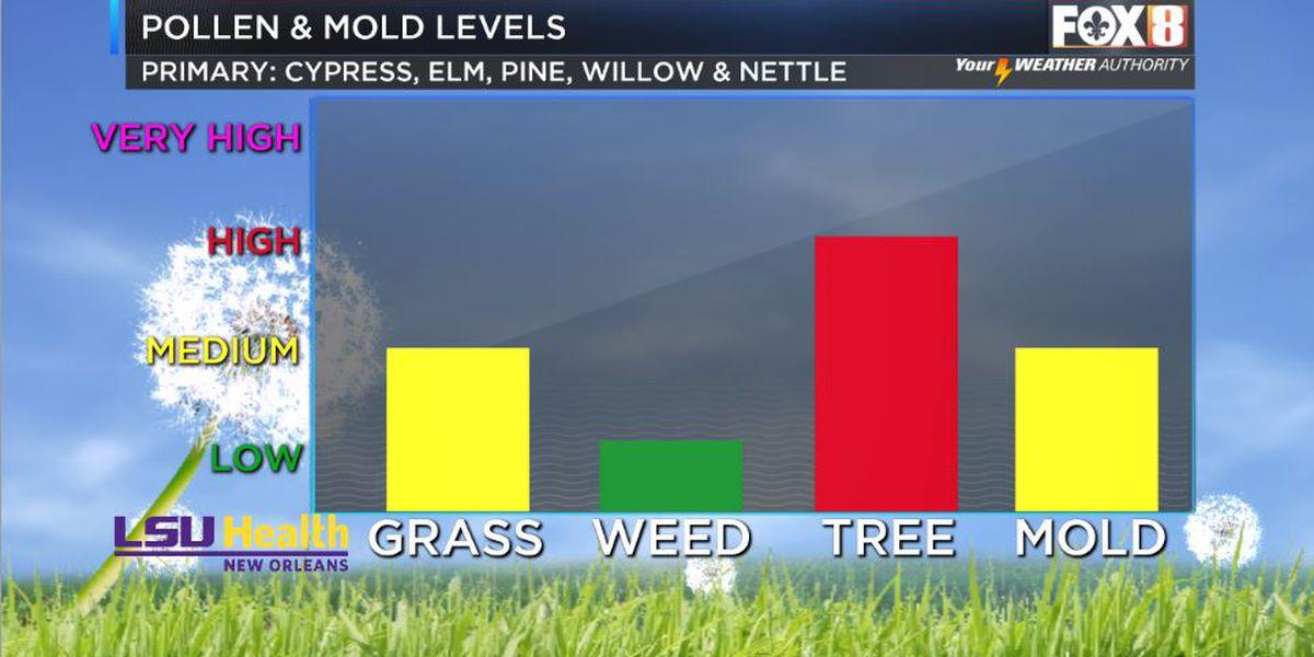 Pollen levels way up