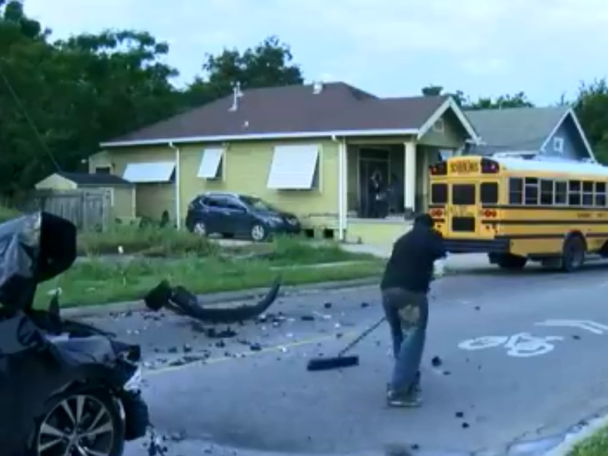 Car crashes into school bus in Upper Ninth Ward