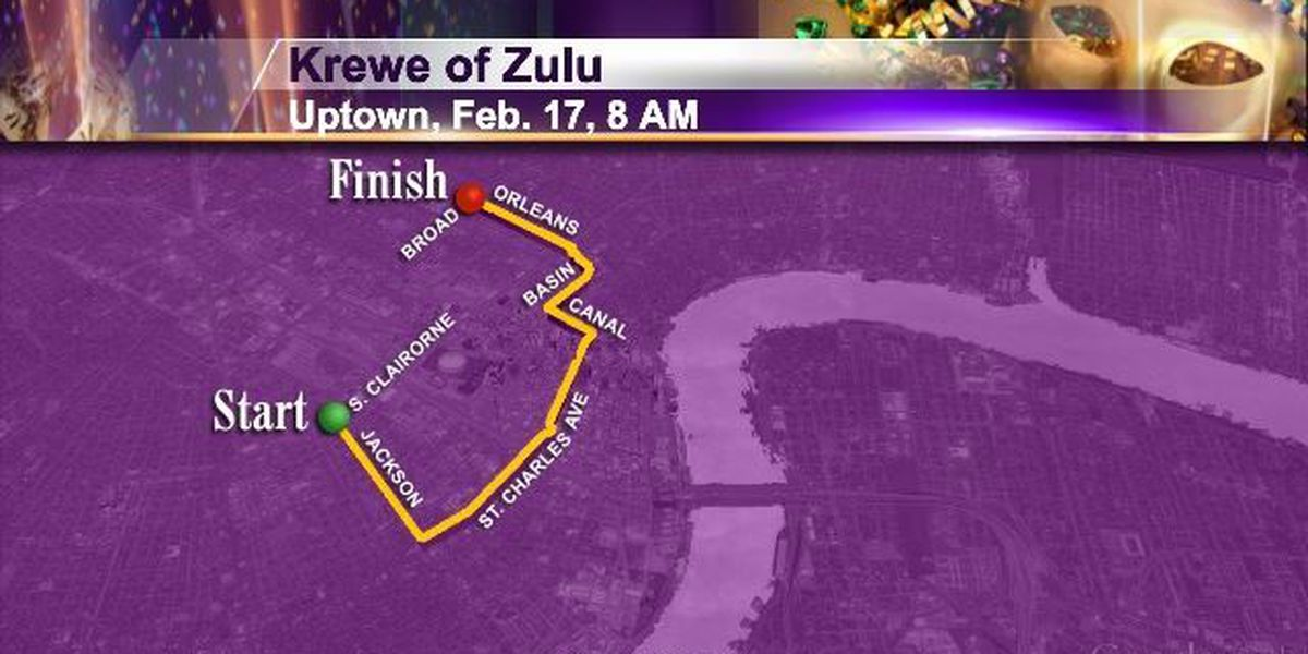 Tues 2/17 Uptown 8am Krewe of Zulu