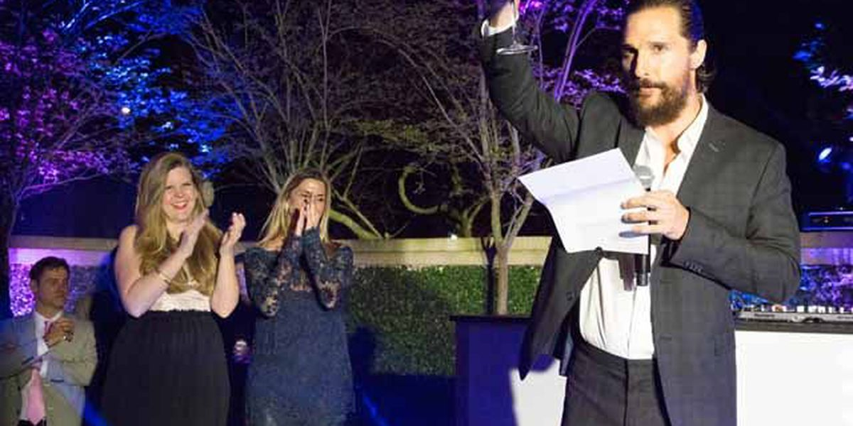 Matthew McConaughey raises toast to New Orleans, describes city as 'a big, beautiful mess'