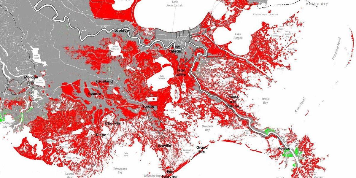 Three different views of the South Louisiana of the future