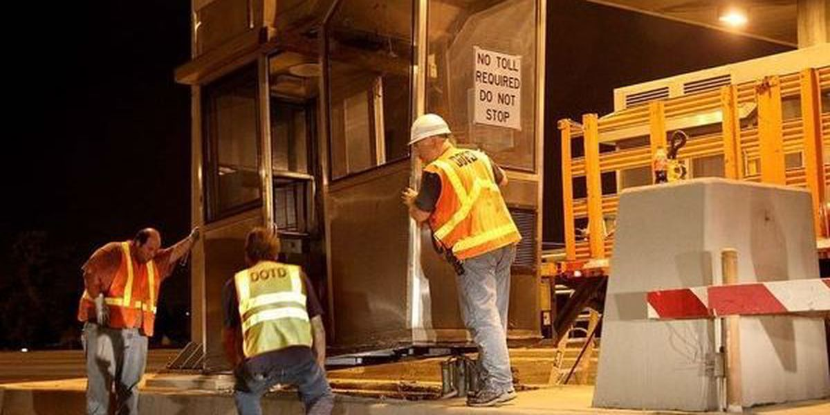 Toll plaza removal to cause delays, slowdowns